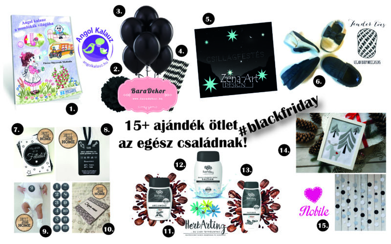 15+ ajándék ötlet az egész családnak! #blackfriday